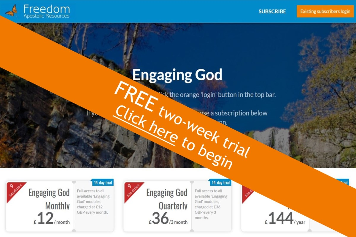 Engaging God subscription programme